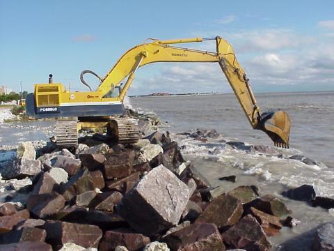 Erosion control at Racine Lakefront