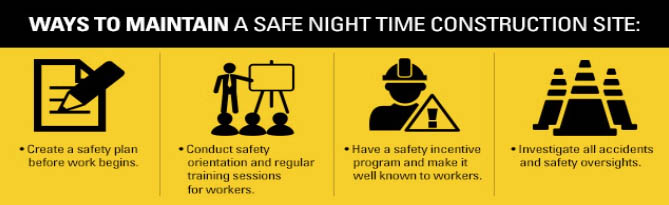 Ways to Maintain a Safe Night Time Construction Site